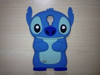 Stitch case for samsung i9500 galaxy S4 S IV  3D Stitch case Lilo & Stitch Back Case Cover Skin For SAMSUNG S4 Free Shipping