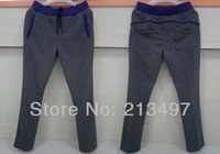 men's pants thick for winter running/jogging/casual wear black/dark grey