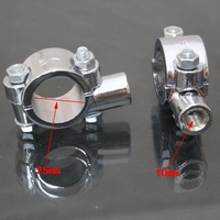 "Universal Motorcycle Handle Bar Mirror Mount Holder Clamp Adaptor  1"" 10MM"