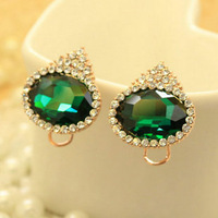Min order is$10 2013 Female elegant sparkling stud  earrings anti oxidation accessories for christmas gift