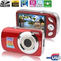 A620 Red, 5.0 Mega Pixels 5X Zoom Digital Camera with 3.0 inch TFT LCD Screen, Support SD Card Max pixels: 16 Mega pixels