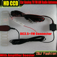 Free shipping Car DVD NAVI Auto Analog TV Radio FM AM Antenna for GPS DVBT TMC Navigation 2Din DC3.5+Fm connecter
