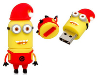Fashion Creative Cartoon Despicable me 2 Models Cartoon Robot USB Flash Drive (Red) 4GB 8GB 16GB 32GB