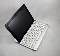Wireless Bluetooth Keyboard Aluminum Bracket Stand Dock Cover For Samsung GALAXY Tab 2 P5100 P5110 - White KeyBoard