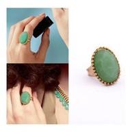 2013 Elegant  Big green Imitation gemstone rings for women vintage Free Shipping 20 Pcs/lot