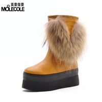 Winter taojian women's shoes flat heel paltform medium-leg platform boots tassel boots snow boots 8808