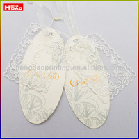 brand special paper garment labels with lace