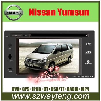 "New Arrival!!! NEW Nissan Yumsun  Special Car DVD GPS 6.5"" HD Digital screen, BT/Radio/iPOD input/TV/Radio-Free 4G Card with map"