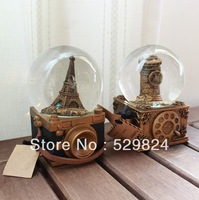 2013 new crystal ball music box valentine's day musical boxes Christmas birthday gift Retro phone camera CP-17
