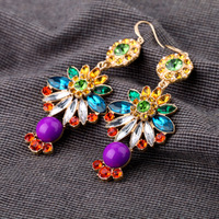DY994 Fashion StyleBig Brand Luxury Fish Hook  Dangle Earring Charm  For Women,2013 New Arrival,Factory Price Stud Dangle Charm
