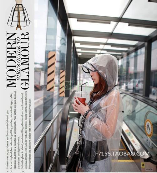 Women elegant transparent raine gear for girl raincoats kids rainsuit(China (Mainland))