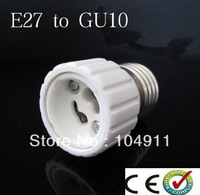 10pcs/lots E27 TO GU10 lamp holder adapter converter White Bulb Base Converter High Quality LED Light Lamp Adapter Screw Socket