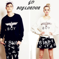 500 Thick cotton winter fleece  Long-sleeve  eagle boy london lovers design  London women lovers long sweatshirt Freeshipping