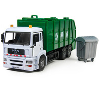 kids toy gift, Alloy Sanitation trucks / large clean car / garbage truck model, Realistic, detailed, non-toxic materials