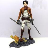 wholesale/retail Attack On Titan Eren Shingeki no Kyojin Levi Rivaille 1/8 PVC Figure gift New in box