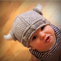 Retail Latest Animal Baby Boy Costume Crochet Hat Beanies Baby Kids Toddler Photogryphy Props Caps Drop Shipping DH00002