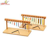 Montessori Toy Store ! High Quality Mathematics Teaching Aids Parent-child Early Learning Interactive Wooden 1 - 20 pearl frame