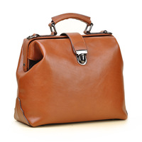 Vintage doctor bag female genuine leather handbag women's first layer of cowhide women shoulder bag
