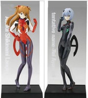 Hot sale Evangelion Asuka Langley Shikinami & Rei Ayanami Set /2pcs PVC Figure Christmas gift New in box