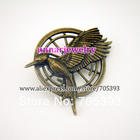 Free shipping Katniss Movie The Hunger Games antique brass Catching fire PIN