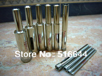 New 4mm to 15mm Diamond coated core drill drills bit tile hole saw 11 pieces SET Accessories Opener Bits Free Shipping