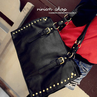 2013 women's handbag shoulder bag rivet bag casual shoulder bag big bags vintage women's handbag