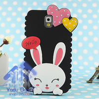 Love rabbit  for SAMSUNG   note3 phone case cartoon shell 6 phone case silica gel set
