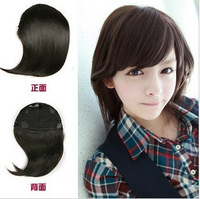 Wig piece wig with bangs hair extension piece oblique bangs wig repair girls