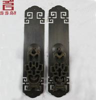 Chinese antique copper door handle straight long 16CM DG-018