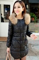 Winter women's 2013 luxury cape fur collar slim medium-long fur collar down coat
