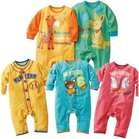 New Hot Baby Rompers Fit 0-2Yrs Girls Boys Infant Bodysuit Kids Cotton One-Piece Toddler Long Sleeve Baby Clothing 15Pcs/Lot