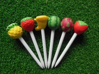 Free Shipping 17sets(6pcs/set) Fine Packing GOLF Fruit TEES GOLF ACCESSORIES