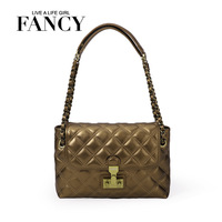 Fancy plaid 2013 dimond chain small shoulder bag banquet women's handbag fashion one shoulder small bags