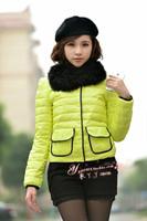 2013 ladies bright color hemming short slim design white duck down fashion down female thin