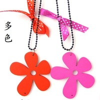 The whole network female long design wool necklace flower necklace bow necklace accessories