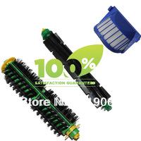 Free Shipping!1 Set Bristle Brush and Flexible Beater Brush+AeroVac Filter  for iRobot Roomba 530 540 550 560 570 580