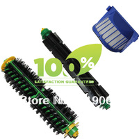 Free Shipping!1 Set Bristle Brush and Flexible Beater Brush+AeroVac Filter  for iRobot Roomba 530 540 550 560 570 580