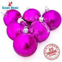 Christmas tree decorations 6cm plated light purple Christmas balls multicolor optional 6pcs/lot