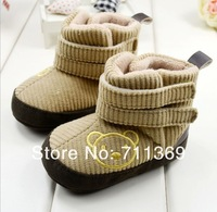 Free shipping wholesale High help baby boots shoes toddler baby cotton shoes foreign trade shoes 3 sizes for choose
