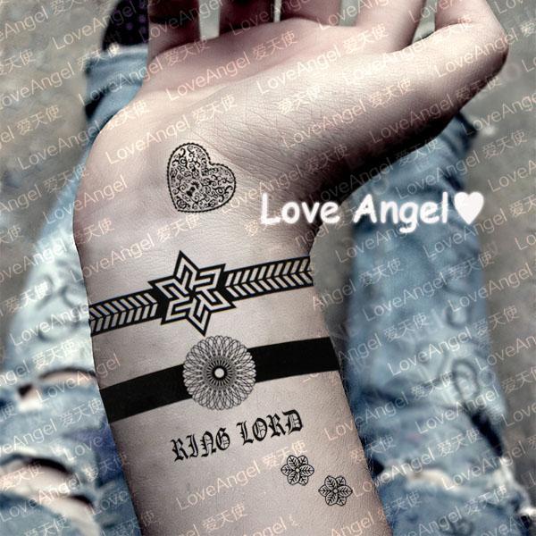 Waterproof tattoo sticker personalized bracelet watch heart flower tattoo stickers(China (Mainland))