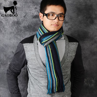 2013 spring and summer thickening stripe faux thermal yarn male knitted scarf muffler scarf long