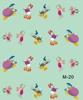 20pcs/lot Nail polish oil applique diy nail art set decoration animal donald duck cartoon nail art