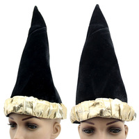 Halloween supplies witch hats black flannelet