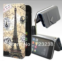 Deer Sexy girl sketch goddess Eiffel Tower Paris Flip PU leather case INEW i6000 6.5 Protective Cover case Hot selling