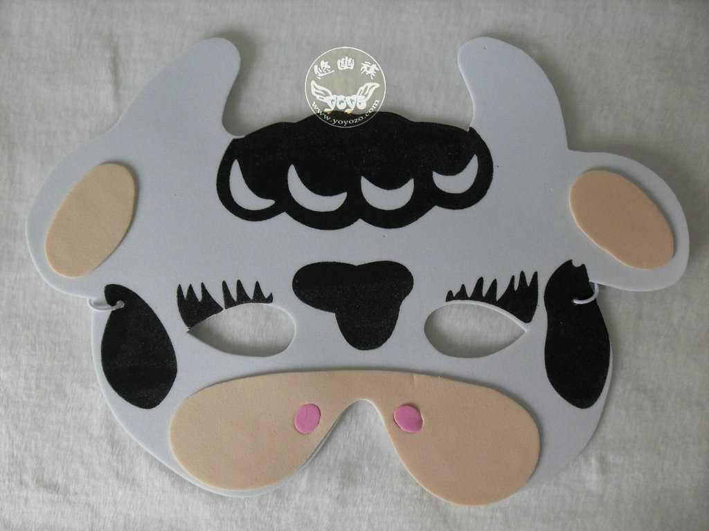 Как сделать маска коровы