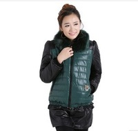 2013 new Korean version of Slim short coat women hooded thick padded!