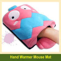 Lovely Super soft USB heating hand warmer mouse pad free shipping