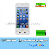 For iphone 5 5s case with battery 2200mah fit iOS7.03 with CE FCC RoHS MSDS UN38.3 free shipping