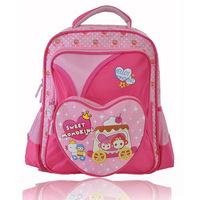 Momoking brand high quality lovely pink children school bags 36404001