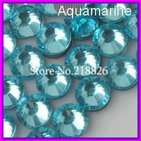 Big Promotion! DMC Hotfix Crystal Rhinestones Beads ss16 Aquamarine 1440pcs/bag CPAM free Use for Iron on Garment Accessories